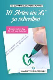"""Handlettering """"G"""" – 10 Varianten"""