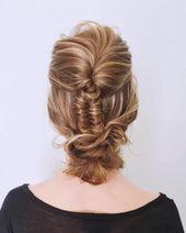 20 geflochtene Frisuren für den Abschlussball, die Sie replizieren können – #geflochtene # Frisuren #imagi …   – Brautfrisuren haarband