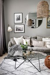 A Small Grey and White Scandinavian Apartment