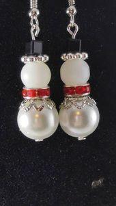 Snowman Earrings Christmas Holiday Winter Earrings Snowman Gift Snow …