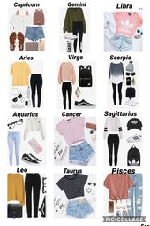 Zodiac Sign Game: Outfits #zodiacsignsoutfits Mach your zodiac sign to the corre…