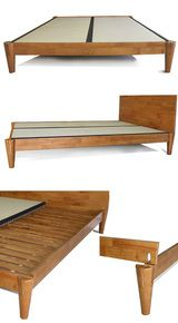 Wakayama Platform Bed Natural Finish Solid Wood Bed Frame