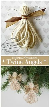 Christmas Ornaments: Twine Angels