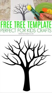 Free Tree Template for Children Crafts