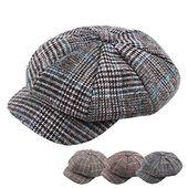 Women men's cotton greek fisherman sailor fiddler driver hat flat cap gray – Products