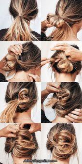 Hot Mess Hair Lieben Sie es, wenn Sie eine schnelle Frisur unter 2 Minuten finden, um regelmäßig zu rocken. Ja, es ist ein Teil quasi schicke Wendung