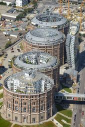 The Gasometers In Vienna Are Four Former Gas Tanks Each Of 90 000