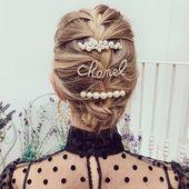 Auf jeden Fall ein guter Tag hair ✨ @ hannahstraffordtaylor Chanel Haarspange: £ 810 #Chanel # chanelfw19 #chanelhairclip # chaneladdict…