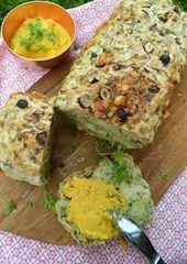 Sommer, Sonne, Lebenslust! Zucchini-Nuss-Brot mit Karotten-Ziegenkäse-Dip