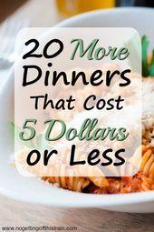 20 mehr Abendessen, die 5 Dollar oder weniger kosten   – cooking