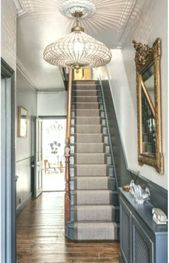 57 Ideen Wandverkleidung Flur Dado Rail #Flur #Dado #Hallway #Hallenverkleidung …