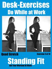See More Desk Exercises You Can Do At Work With A Standing Fitness Whole Pizza In My Mouth Pinterest And Build