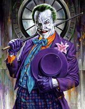 Fan artwork de Jason Edmiston représentant le Joker de Jack Nicholson du movie Batma…