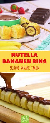 Anbetungswürdiger Snack aus Bananen und Nutella