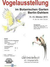 Berli Berlin Botanischen Club Des Die Garten Jahrliche Ornis Vogelschau Die Jahrliche Vogelschau In 2020 Botanischer Garten Berlin Botanischer Garten Berlin