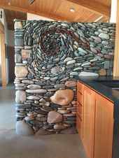 Kitchen feature wall installation. – #feature #Ins…