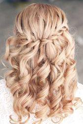 Halb Hochsteckfrisuren Mittellanges Haar,  #beautyhacktumblr #Haar #halb #Hochsteckfrisuren #…
