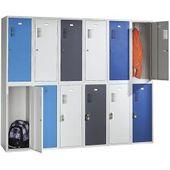 Cp-möbel Schließfachschrank S 2000, aus Metall, 20 Fächer Drehriegel, 119 x 185 x 50cm, rubinrot Cpc