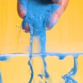 Oil Separates from Water, While color falls through! Fabric starch repels water!