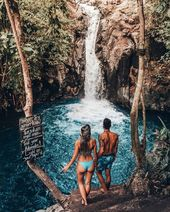 exploring hidden waterfalls in Bali #journey #couplegoals #wanderlust #lostinpara…