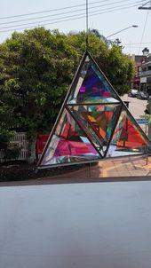 Dichroic glass Tetrahedron