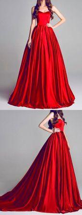 Beautiful Rot Abiballkleider/Abendkleider Sweep / Pinsel Zug Herz-Ausschnitt lange Abendkleider JKL314