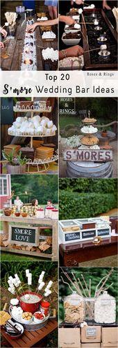 20 Ideen für die Best of S'more Bar-Hochzeitsstation