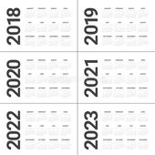 Year 2018 2019 2020 2021 2022 2023 Calendar Vector Design Template Simple And Sponsored Ad Affiliate Year In 2020 Calendar Vector Calendar Design Calendar