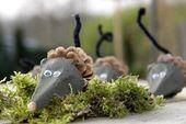 Mäuse aus Zapfen – Kindertreff im Wochenblatt – herbst