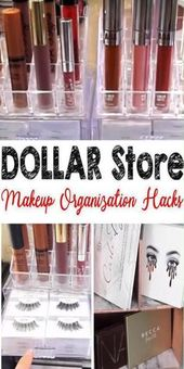 COOLEST HACKS Dollar Store for the best makeup organization. Put your makeup in order …