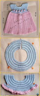 Crochet Girl Dress Pink Pattern gratuit – Crochet Girl Dress Patterns gratuits   – teddy