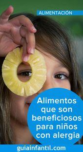 Alimentos que son beneficiosos para niños con alergia