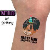 Erste Geburtstagsparty Tattoos Gefälligkeiten   1. Geburtstagsfeier, eine, erste Geburt der Mädchen …   – Products