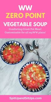 Weight Watchers Slow Cooker Vegetable Soup