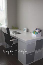 Ikea Hack- DIY Computer Desk with Kallax Shelves