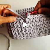 Crochet Stitches Makeup Basket Video Tutorial