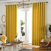 Pin On Yellow Curtains Living Room