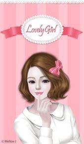 166b939994b6cd78032d0d03ab418d2a  girl wallpaper sweet hearts - enakei y