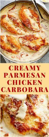 Poulet carbonara crémeux à la carbonara (sans oeuf) #Carbonara #Keto – #carbonara #cremy …   – rezepte Einfache