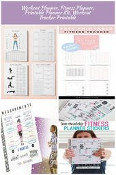 Fitness Planner Printable Workout Planner Printable Health | Etsy Fitness Planne…