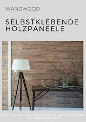 Selbstklebende Holzverkleidung für die Wand mit Wandwood Paneele einfach kleben… – Wohnzimmer: Einrichten Dekorieren und Gestalten