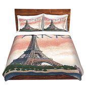 Dianoche Designs Microfiber Duvet Covers Lantern Press Eiffel Tower Paris Duvet Covers Duvet Design