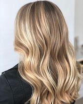 Balayage, blonde balayage, blonde hair, blonde highlights, natural hair, natura…   Hair colors 2019 medium long lady