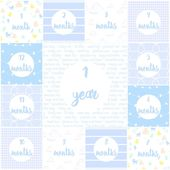 Baby Milestone Cards – Printable – Monthly Photo Prop – Baby Boy – Photography Props – Monthly Picture – Shop Small: Printables