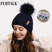 Beanie Hat Winter Hats for Women Knitted Pompom Hat with Fleece Lined Soft Warm Female Winter Cap Skullies Black Grey – SHOPEE SHIPEE YIPEE