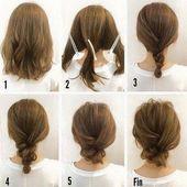 Wirklich leichte Frisuren für mittelstarkes Haar #hochzeit #hochzeitsfrisuren #…