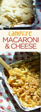 Le macaroni au fromage sous un feu de camp peut être un repas déjà préparé! Vous pouvez fermer ce pan d'un …   – best of NellieBellie