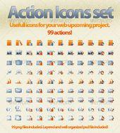 Web Action Icons Set