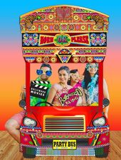 Bollywood Party Bus Photo booth Backdrop – PRINTABLE – Bollywood party decorations, PhotoBooth Prop, Diwali, Indian wedding, Punjabi