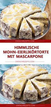 Himmlischer Mohnobstgarten mit Mascarpone 😍 😍 😍   – FOOD & RECIPES